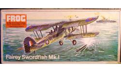 Палубный торпедоносец Fairey Swordfish 1:72  FROG, сборные модели авиации, 1/72