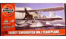 гидросамолет Swordfish 1:72 Airfix !NEW!, сборные модели авиации, Fairey, scale72