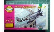 истребитель Hawker Tempest MkV 1:72 Smer/Heller, сборные модели авиации, scale72
