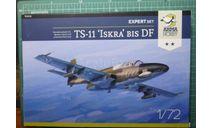 Учебный самолет  PZL TS-11 Iskra bis DF (expert set) 1:72 Arma Hobby, сборные модели авиации, ArmaHobby, 1/72