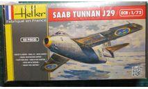 истребитель SAAB J-29 Tunnan 1:72 Heller, сборные модели авиации, scale72