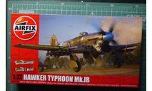 истребитель-бомбардировщик Hawker Typhoon Ib 1:72 Airfix (NEW), сборные модели авиации, scale72