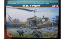 вооруженный вертолет UH-1D/H Iroquois  1:72 Mistercraft, сборные модели авиации, 1/72