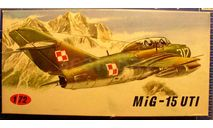 учебный самолет МиГ-15УТИ 1:72 KP, сборные модели авиации, scale72
