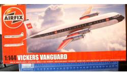 Пассажирский самолет Vickers Vanguard 1:144 Airfix, сборные модели авиации, 1/144