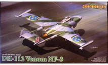 всепогодный перехватчик DH-112 Venom 1:72 CyberHobby (Dragon), сборные модели авиации, scale72