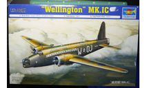 бомбардировщик Vickers Wellington Mk IC 1:72 Trumpeter, сборные модели авиации, scale72
