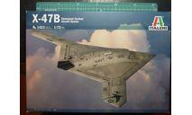 палубный ударный БПЛА X-47B 1:72 Italeri, сборные модели авиации, scale72