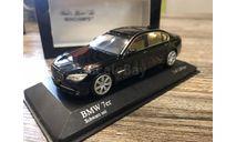 BMW 7 series F02 2008 black met. 1:43 Minichamps, масштабная модель, scale43
