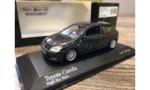 Toyota Corolla 3 door 2001 black met 1:43 Minichamps, редкая масштабная модель, scale43