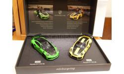 Porsche 2-Car Set 911 GT3 RS & 911 GT2 RS record lap Nürburgring Minichamps 1:43 WAX02020087, масштабная модель, scale43