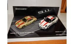 Porsche 911 R 2016 white / Porsche 911 R 1967 record car (2 cars set) (L.E.499pcs) 412066220, масштабная модель, Minichamps, 1:43, 1/43