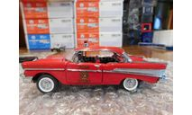 1957 Chevrolet Bel Air Sport Coupe- Fire Chief , 1:43, Franklin Mint, масштабная модель, scale43, Ford
