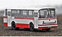 Автобус ЛАЗ-695Н белый с красными полосами КБ, масштабная модель, Classicbus, 1:43, 1/43