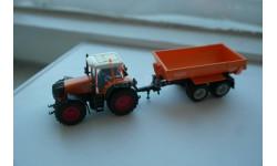 1:87 трактор Fendt 930с прицепом-самосвалом Krampe, Wiking