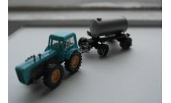 1/87 трактор ДУТРА с прицепом вакуумной цистерной, SES