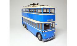 Троллейбус ЯТБ-3 городской, голубой/бежевый 1938г. (Б.1902), масштабная модель, ULTRA Models, scale43