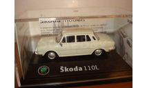 SKODA 110 L - 1969 белая Abrex 1/72, масштабная модель, scale72, Škoda