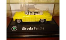 Skoda Felicia 1963 yellow Abrex 1/72, масштабная модель, scale72, Škoda
