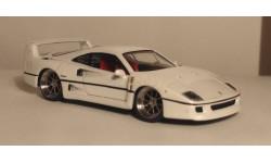 ferarri f40 kyosho pearl white, масштабная модель, Ferrari, 1:64, 1/64