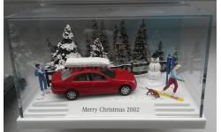 1/87 BUSCH Новогодняя диорама Mercedes C 2002 SALE!