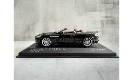 Minichamps ASTON MARTIN DBS VOLANTE - 2010 - BLACK L.E. 1632 pcs., масштабная модель, 1:43, 1/43