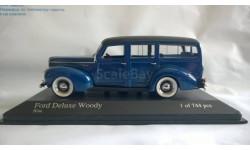 Minichamps FORD V8 DE LUXE WOODY STATIOWAGEN - 1940 - BLUE L.E. 744 pcs.