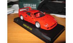Ferrari F40, масштабная модель, Eaglemoss (Джи Фаббри), 1:43, 1/43