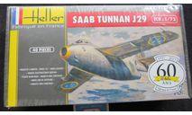 SaaB Tunnan J29 Heller 1/72 в плёнке.  Возможен обмен., сборные модели авиации, scale72