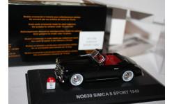 Масштабная модель Nostalgie №39 Simca 8 Sport 1949 1/43, масштабная модель, 1:43