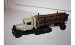Масштабная модель Ломо АВМ ГАЗ-60 гусеничный лесовоз бревновоз для перевозки длинномерных грузов, масштабная модель, scale43, ЛОМО-АВМ