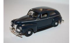 Ford Two Door Sedan 1941 Cayuga Blue металл Fleer #1941-04 Kentucky'41 США USA 1/43, масштабная модель, scale0