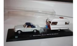 Cararama Mercedes benz 280 SL Roadster прицеп кемпер 1/43, масштабная модель, Bauer/Cararama/Hongwell, scale0
