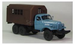 ЗИЛ 157 кунг граненый ГК-1 темно коричневый, масштабная модель, 1:43, 1/43, МХВ