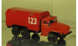 Урал 4320 пожарный кунг тип 2, масштабная модель, scale87
