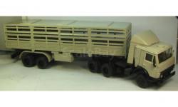 КАМАЗ 5410 с полуприцепом скотовозом, масштабная модель, 1:43, 1/43, Самоделка
