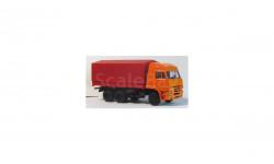 КАМАЗ 4320 вторая модернизация оранжевый тент, масштабная модель, 1:43, 1/43, Киммерия