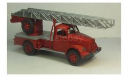 ГАЗ 51 пожарная автолестница АЛГ-17, масштабная модель, 1:43, 1/43, Самоделка
