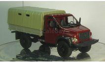 ГАЗ Некст С41А21 красный бортовой тентованый, масштабная модель, 1:43, 1/43