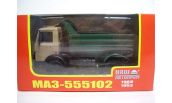 1:43 МАЗ-555102 самосвал бежево-зелёный (1988-1993) НАП Н705
