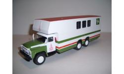 1:43 ЗИЛ-133Г1 (КАВЗ-5982) перевозка лошадей АНС №78, масштабная модель, 1/43, ДеАгостини