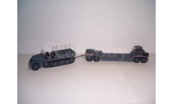 1:43 Немецкий 18-тонный полугусеничный тягач Sd.Kfz 9 Famo с прицепом-танковозом Sd.AH116 Atlas