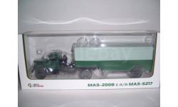 МАЗ-200В с п-п МАЗ-5217 зелёный