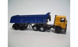 МАЗ-6422 жёлтый (АИСТ100565) + МАЗ-9506-20 синий (АИСТ101500), масштабная модель, 1:43, 1/43