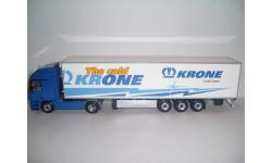 Мерседес-Бенц 1844 Actros синий с полуприцепом Krone Cool Liner Minichamps 499 039103, масштабная модель, Mercedes-Benz, 1:43, 1/43