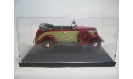 ГАЗ-М1 фаэтон в боксе НАП Н157, масштабная модель, 1:43, 1/43