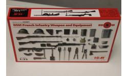 35681 Оружие и снаряжение пехоты Франции 1 Мировой войны 1:35 ICM, миниатюры, фигуры, 1/35