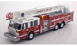 Smeat 105 Rear Mount Ladder Charlotte Fire Department 1:43 IXOmodels