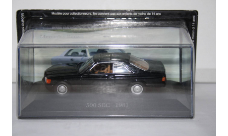 Mercedes Benz 500 SEC (C126)  1981, Altaya, масштабная модель, scale43, Mercedes-Benz