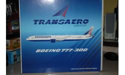 1:200 Boeing 777-300 TRANSAERO EI-UNM,JC Wings, масштабные модели авиации